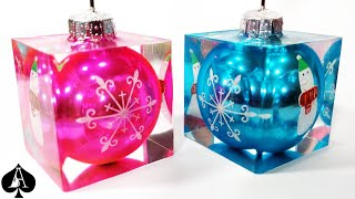 5 Epoxy Resin Christmas Holiday Projects   Name Card Holders   Coasters   Jar Candle   Tray   Lights