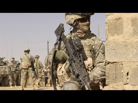 Afghanistan War. US Marines In Afghanistan Fighting Taliban. Intense Firefight, Shooting, Clashes.
