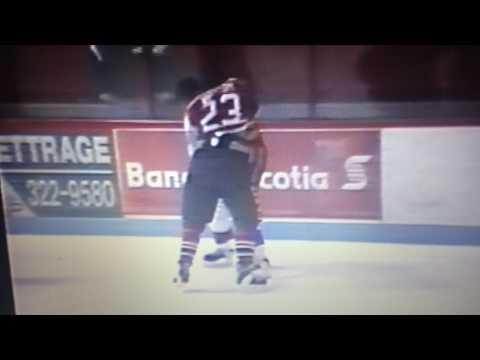 QMJHL Dave Whittom vs Matthew Barnaby Season 1992-1993