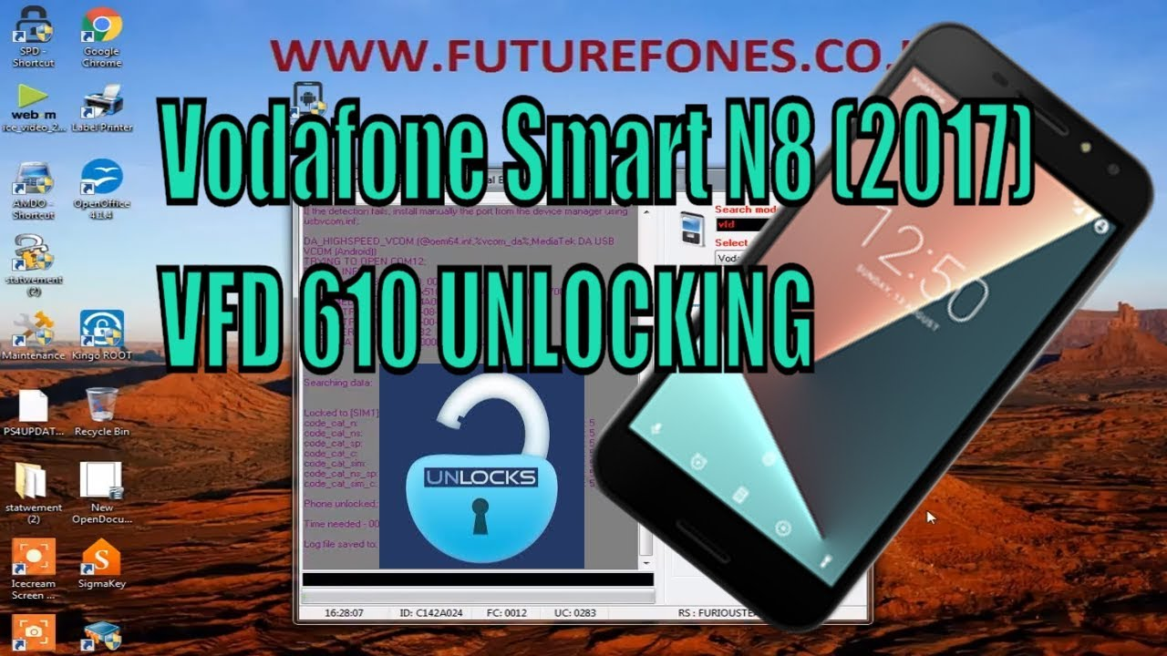 How to Unlock Vodafone Smart N8 (2017) VFD 610 with Furious Gold OTSMART