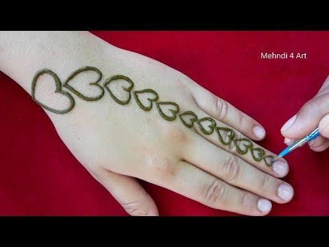 Most Stylish Heart Mehndi Design Backhand New Mehndi Design 2019 Simple Mehndi Design