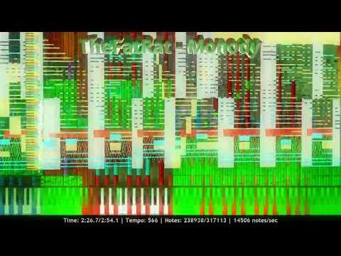 1000 Subs | TheFatRat - Monody | Impossible Piano Remix | Black MIDI ~ MusiMasta & MBMS