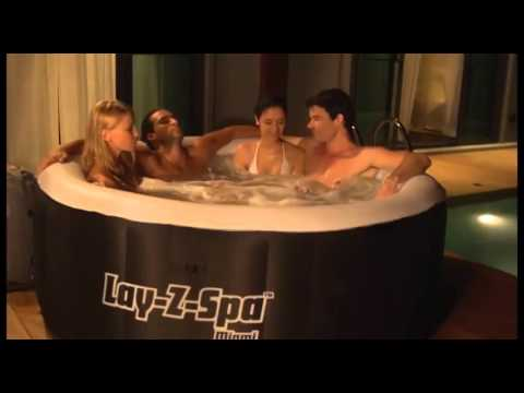lay z spa miami inflatable hot tub 2 4 person portable. Black Bedroom Furniture Sets. Home Design Ideas