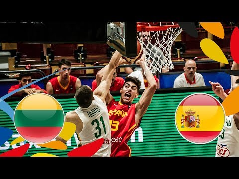 Lithuania v Spain - Round of 16 - Full Game - FIBA U20 European Championship 2018