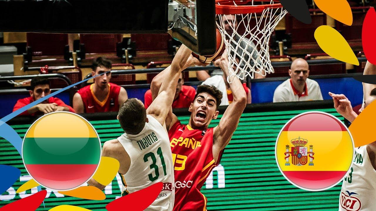 Lithuania v Spain - Round of 16 - Full Game - FIBA U20 European Championship 2018