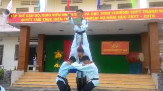 Mãn nhãn với phần múa võ trong ngày khai giảng ở trường THPT Thạnh Hóa 5/9/2017