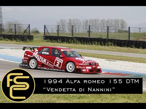 1994 ALFA ROMEO 155 V6 Ti DTM Nannini - ONBOARD + HISTORY
