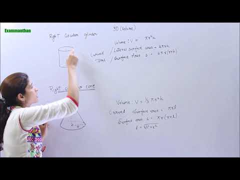 3D Volume Surface Area Concept - How To Find The VOLUME Of Cylinder | Mensuration Maths Tricks