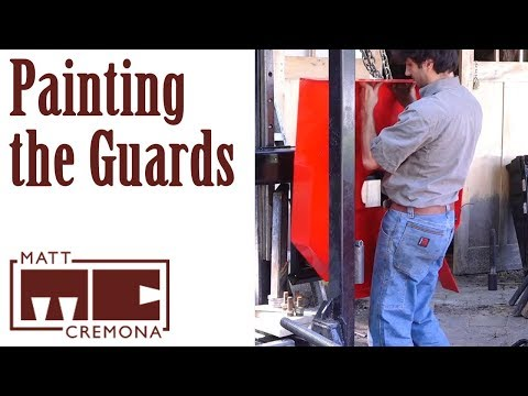 Painting the Guards - Building a Large Bandsaw Mill - Part 18