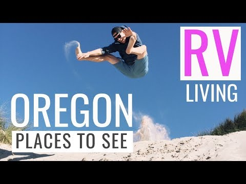Oregon Dunes - What to do on a rainy day? - RV full-time travel