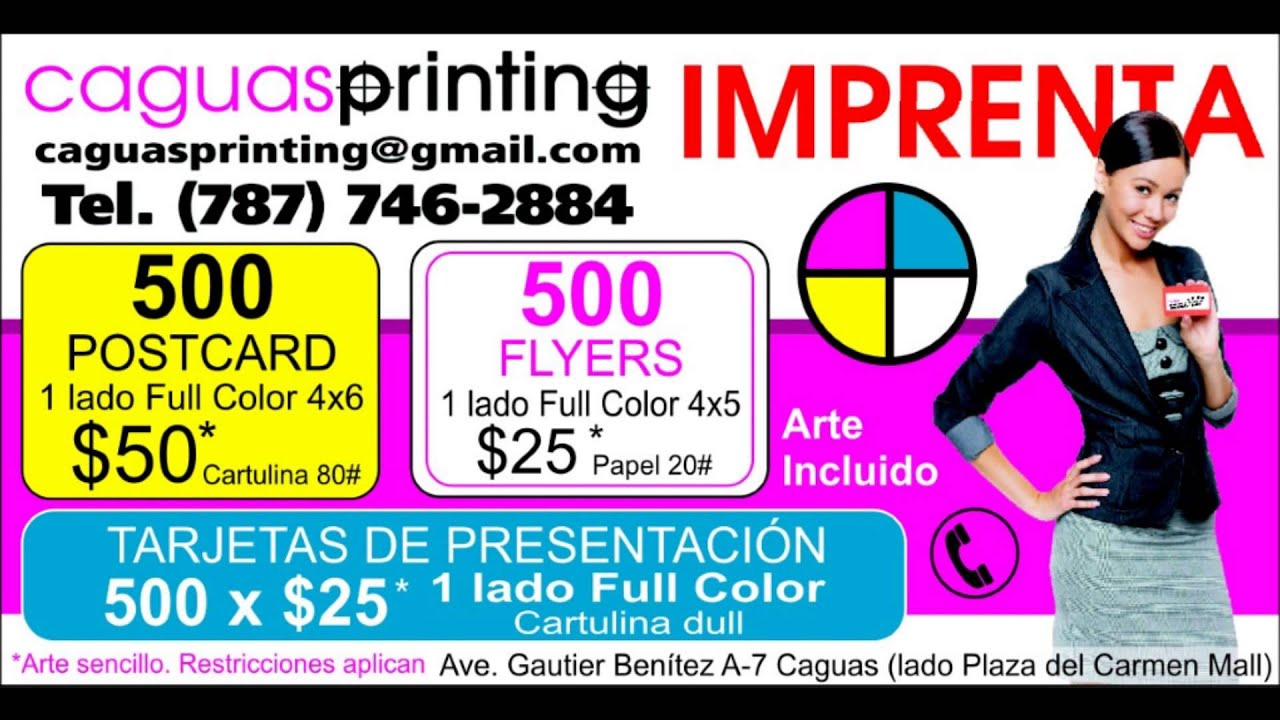 imprenta en caguas caguas printing promo youtube. Black Bedroom Furniture Sets. Home Design Ideas