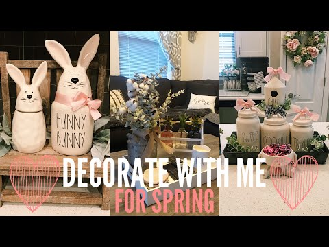 SPRING DECORATE WITH ME | HOW TO STYLE RAE DUNN & TARGET DOLLARSPOT ITEMS