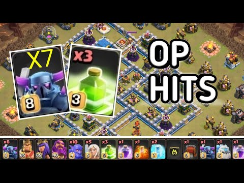 NEW STRATEGY 2019!! 7 MAX PEKKA 3 JUMP DESTROY TH12 WAR BASES!! CLASH OF CLANS
