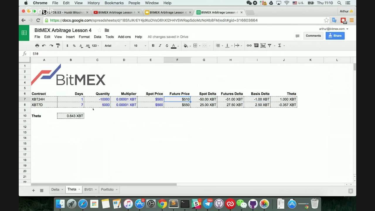 BitMEX Arbitrage Lesson 4