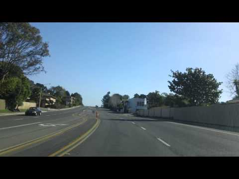 Driving east on Del Mar heights Road from Beach San Diego California in January 1080P 00142