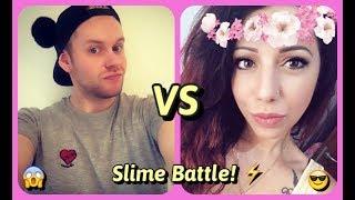 SLIME BATTLE 💪🏻😎che vinca lo slime migliore!!!😆👍🏻 DIY SLIME + ASMR 💖 COLL. Swirl Vanilla 💖