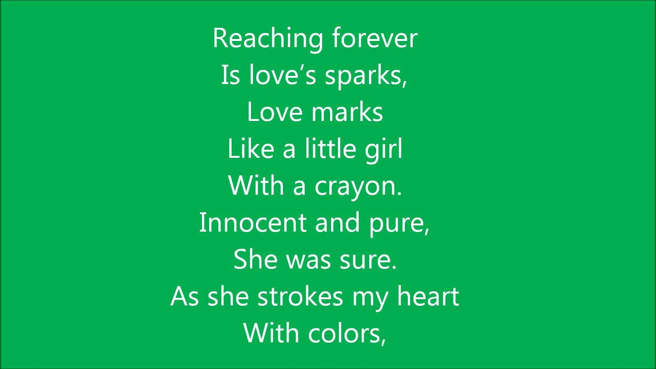 Little Girl With A Crayon (A Free Verse Spiritual Poem) - YouTube