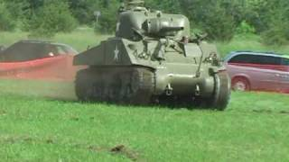 M4 Sherman Tank Shows its
