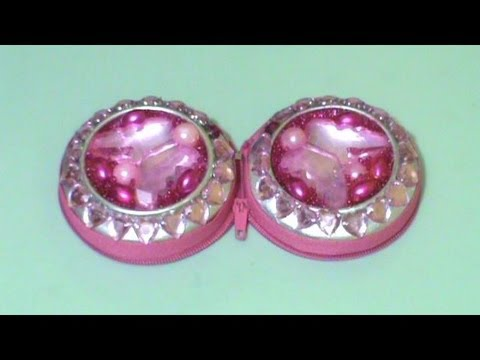 Rec cla monedero porta aretes espejo estilo princesa for Pared con espejos redondos