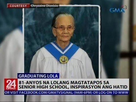 24 Oras: 81-anyos na lolang magtatapos sa senior high school, inspirasyon ang hatid