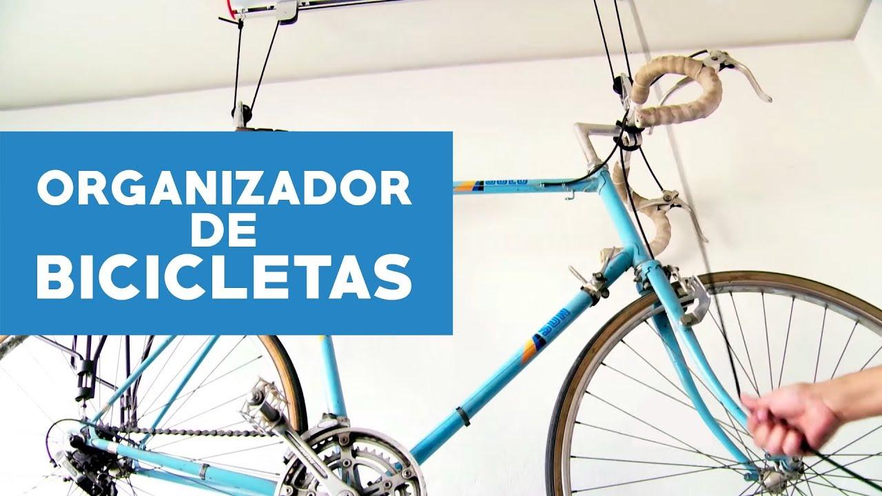 Organizador de bicicletas para techo youtube - Guardar bicicletas en poco espacio ...