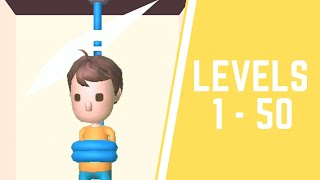 Rescue Cut - Rope Puzzle Game All Levels 1-50