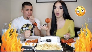 Download WE TRIED THE  HOTTEST WINGS EVER! *NEVER AGAIN* 🥵 Mp3 and Videos