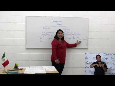 Primaria 3º y 4º clase: 70 Tema: Adjetivos y adverbios en la descripción