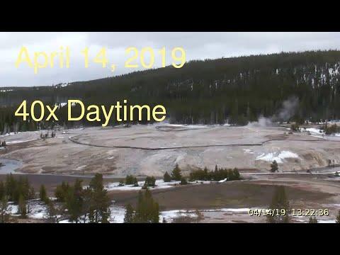 April 14, 2019 Upper Geyser Basin Daytime Streaming Camera Captures