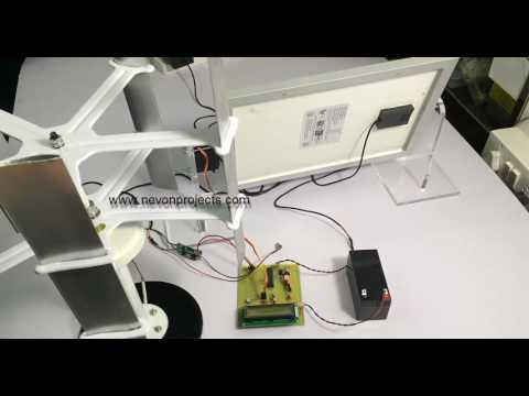 Dual Power Generation Solar Plus Windmill System