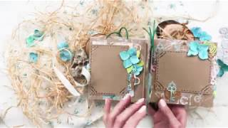 Eco Paper - обзор весеннего мини-альбома с цветами ручной работы