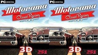 3D VR video Motorama Classic Racing  3D SBS google cardboard