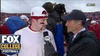 Baker Mayfield interview after Sooners win Big 12 Title | COLLEGE FOOTBALL ON FOX