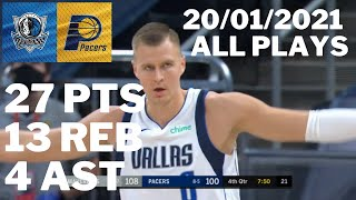 Kristaps Porzingis vs. Pacers: 27 pts, 13 reb, 4 ast ALL PLAYS 2020/2021 Regular Season [20.01.21.]