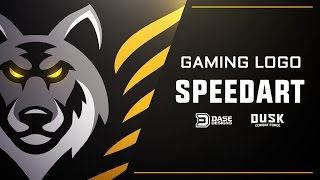 Gaming Logo Speed Art   DUSK Combat Force   Adobe Illustrator