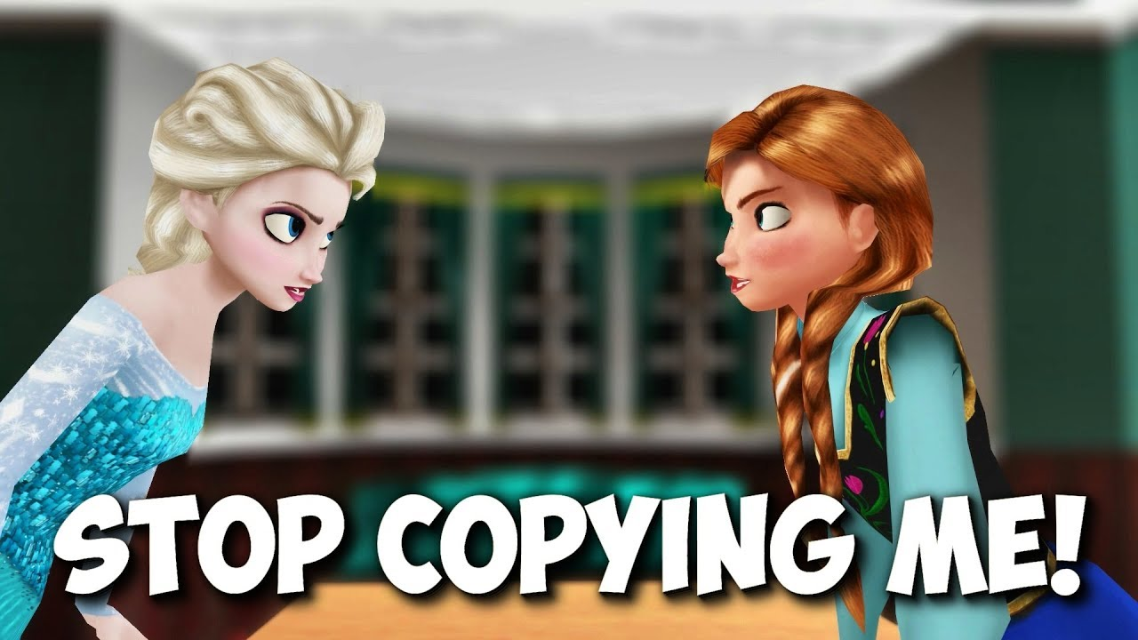 Mmd Frozen Stop Copying Me Elsa And Anna Funny Animated