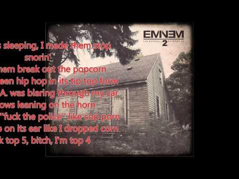 Eminem - Evil Twin (Lyrics on screen)