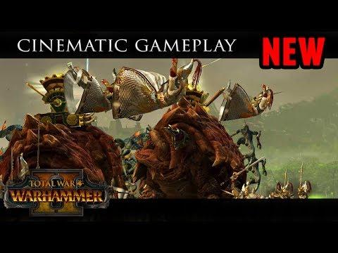 Total War: Warhammer 2 - Cinematic Gameplay of Lizardmen vs High Elves (E3 Quest Battle)