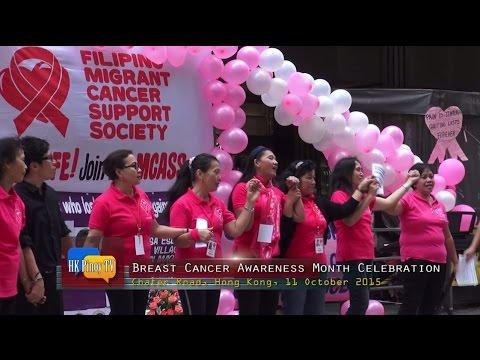 Cancer survivors celebrates Breast Cancer Awareness Month in Hong Kong