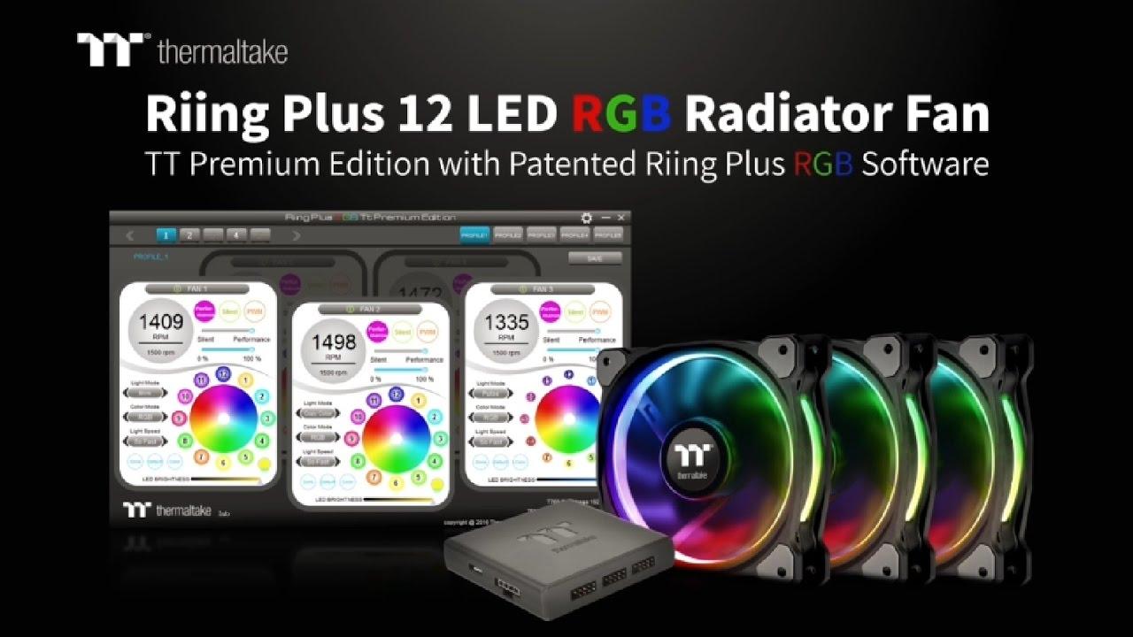 Vidéo : Thermaltake Riing Plus 12 LED RGB, plus d'options
