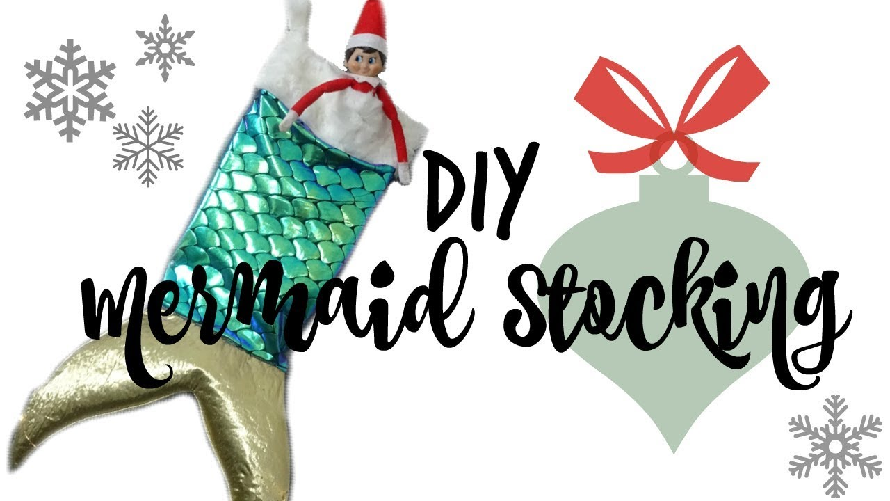 Mermaid Christmas Stocking.Diy Mermaid Tail Christmas Stocking