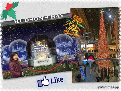 The TALLEST Christmas tree ever; Toronto Eaton Centre & Hudson Bay; must see kids video