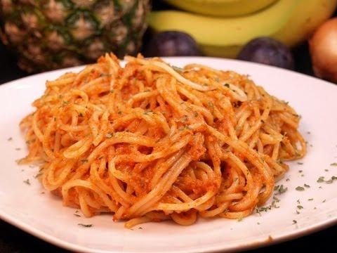 spaghetti mit tomatenpesto auch pesto rosso genannt youtube. Black Bedroom Furniture Sets. Home Design Ideas