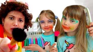 Настя и игры с косметикой для детей 2