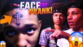 FACE TATTOO PRANK ON FRIENDS 😱💉 (THEY WAS ROASTING ME)