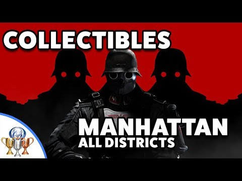Wolfenstein 2 The New Colossus Manhattan Collectibles - Harbor, Subway, Bunker, Ruins & Penthouse