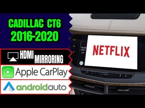 Cadillac CT6 2016-2019 Navigation CUE Video Interface, HDMI Smartphone Mirroring, Apple CarPlay, DVD
