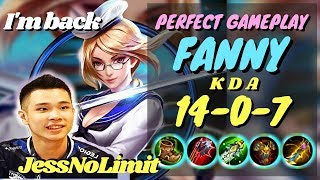 JessNoLimit FANNY IS BACK!!! Perfect Fanny Gameplay and Build [EVOS JessNoLimit] - Mobile Legends