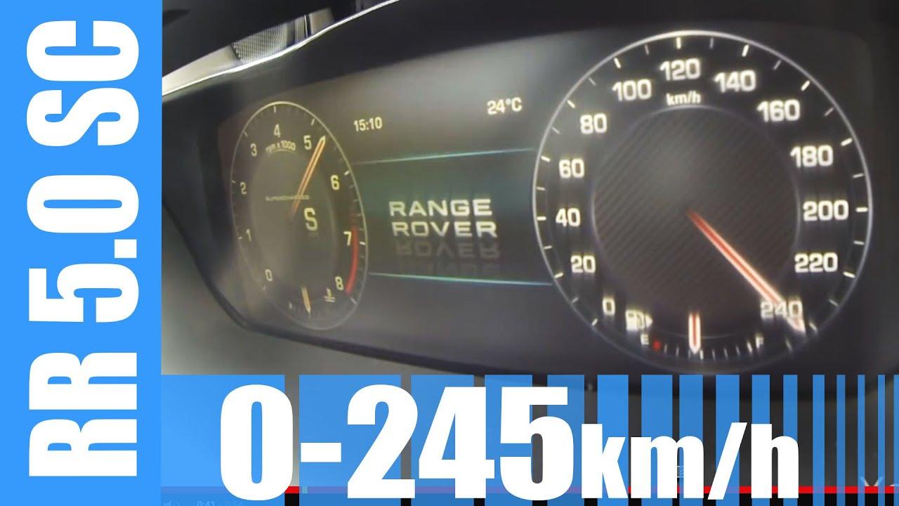 Range Rover 5 0 V8 Supercharged 510 HP 0 245 km h BRUTAL