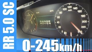 Range Rover 5.0 V8 Supercharged 510 HP 0-245 km/h BRUTAL! Acceleration & Top Speed Run